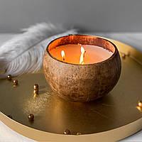 Натуральные арома свечи Восточные пряности в кокосовой чаше Coconut Home
