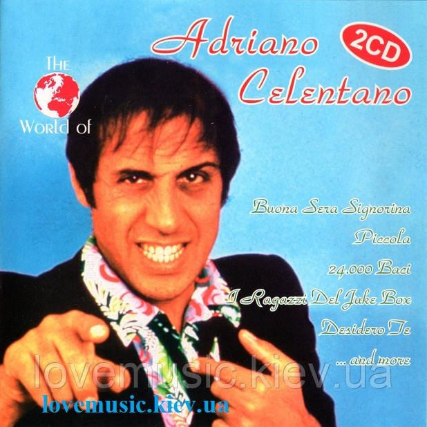 Музичний сд диск ADRIANO CELENTANO The world of Adriano Celentano (1999) (audio cd)