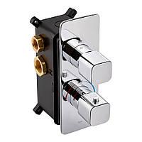 Змішувач термостатичний прихованого монтажу для душу Qtap Votice 65T105NGC на три споживача