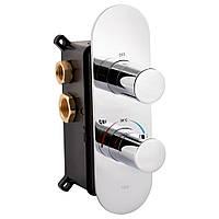Змішувач термостатичний прихованого монтажу для душу Qtap Votice 65T105OGC на три споживача
