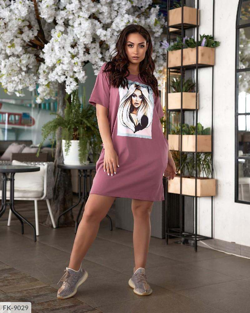 Літнє плаття футболка короткий спортивне вільного крою з кишенями великі розміри батал 50-54 арт.1039