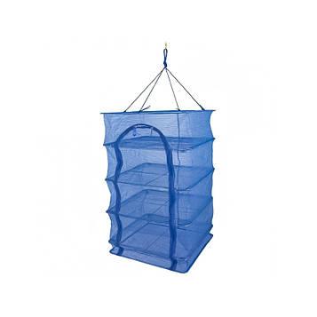 Сітка сушарка на 4 секції 50х50х76 см Синя складна сітка для сушіння фруктів, ягід (сітка сушка) (NS) (SV)