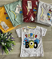 """Футболка дитяча модна з принтом на хлопчика 1-4 роки (5 кол) """"BAMBINI"""" від прямого постачальника"""