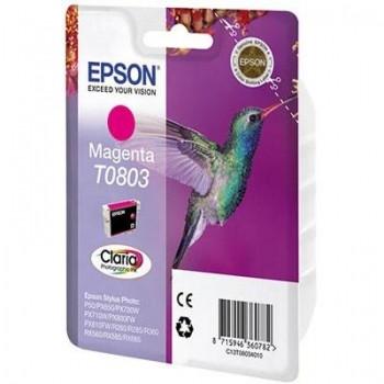 Струменевий картридж EPSON T0803 (C13T08034010/ C13T08034011) Magenta