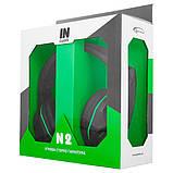 Навушники Gemix N2 Black/Green, фото 2