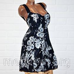 Черный купальник платье 72 размер, отличное качество, полномерный