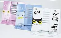 """Подставка для книг металлич"""" Котик"""" 21*16,9*19см,4 цв."""