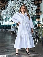 Довге плаття жіноче, вільного крою верх сорочкою рукава ліхтарик великі розміри 48-56 арт. 5133, фото 1