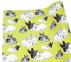 Папір для пакування подарунків Кролики -10листов)