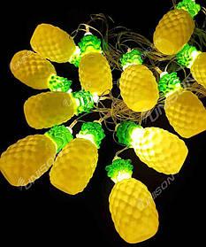 """Фігурки 12 LED, """"АНАНАС"""", 5м + перехідник, теплий білий"""