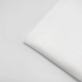 Муслин жатый 2-х белого цвета 135 см