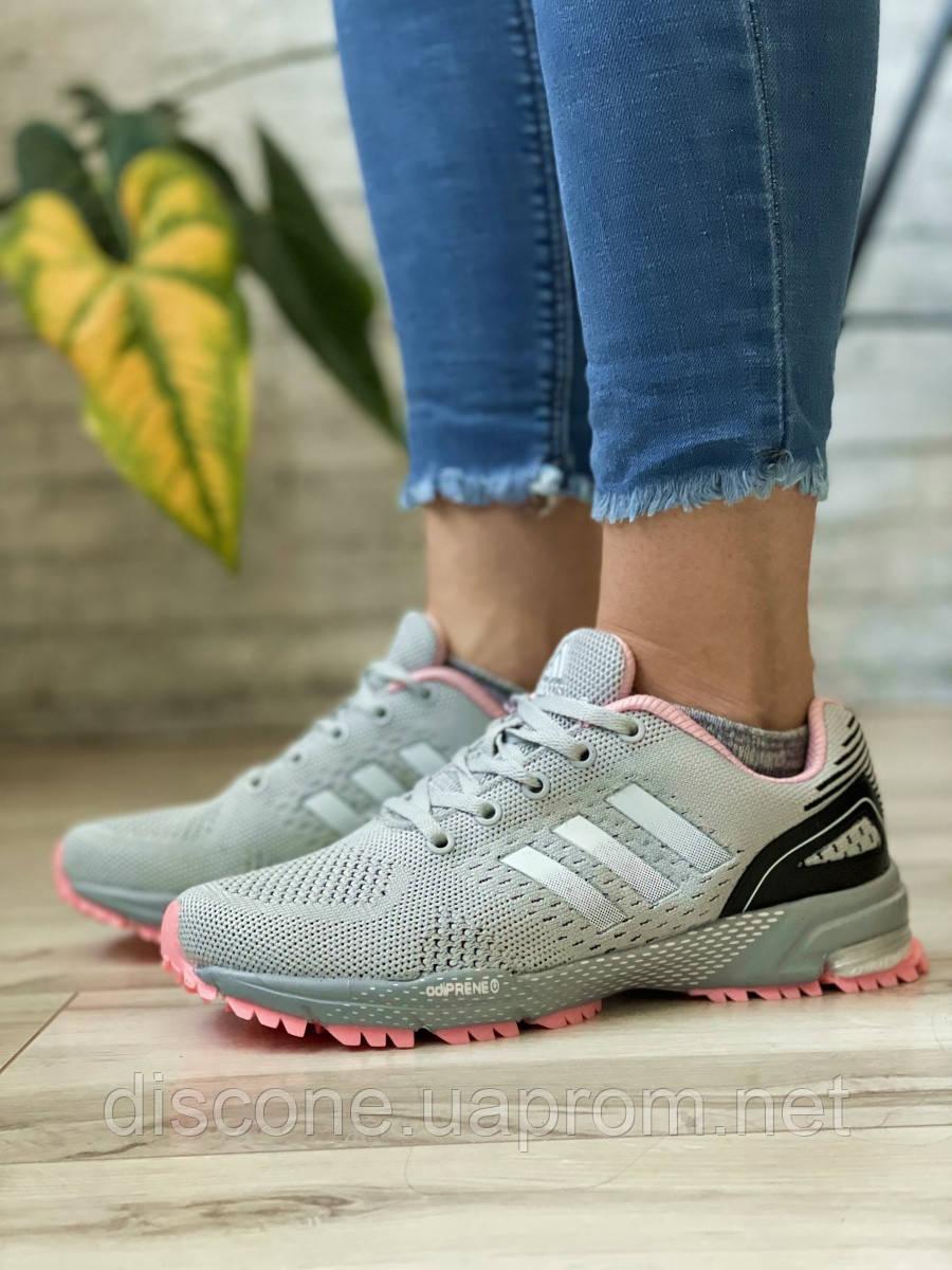 Кроссовки женские 16914, Adidas Marathon Tn серые ✅Скидка 30% [ 36 38 ] ► (36-22,7см)