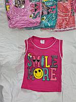 """Майка дитяча літня SMILE MORE на дівчинку 1-4 роки (4 кол.) """"SMILE"""" купити недорого від прямого постачальника"""