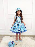 """Плаття дитяче FROZEN з сумкою і панамкой на дівчинку 3-10 років (2цв) """"MARI"""" купити оптом в Одесі на 7км"""