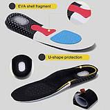 Гелевые спортивные стельки-супинаторы, с антишоковой защитой пятки мужские 39-44 размер. VALGUS PRO PL, фото 2