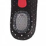 Гелевые спортивные стельки-супинаторы, с антишоковой защитой пятки мужские 39-44 размер. VALGUS PRO PL, фото 8