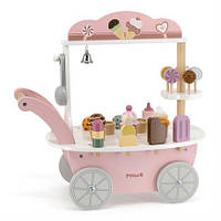 Деревянный игровой набор Viga Toys PolarB Магазин мороженого на колесах (44054)