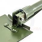 ОПТ Туристична лопатка складна середня з чохлом, лопата автомобільна універсальна, фото 3