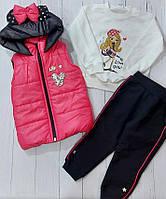"""Костюм трійка дитячий модний з вушками дівчинку 2-5 років (4кол) """"MARI"""" купити недорого від прямого постачальника"""