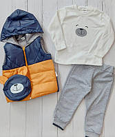 """Костюм трійка дитячий з кишенею на хлопчика 9-24 міс (4 цв) """"MARI"""" купити недорого від прямого постачальника"""