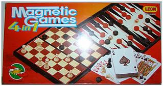 Шахи магнітні 4в1 в кор. 25х13х3,5см. 9841 (48)