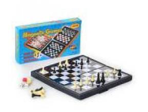 Шахи на магнітах 3в1 (шахи/шашки/нарди) в кор. 20,5х11х3см. 3831 (96)
