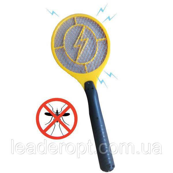 ОПТ Мухобойка электрическая от комаров и мух на батарейках, уничтожитель летающих насекомых