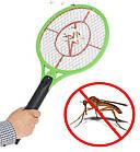 ОПТ Мухобойка электрическая от комаров и мух на батарейках, уничтожитель летающих насекомых, фото 6