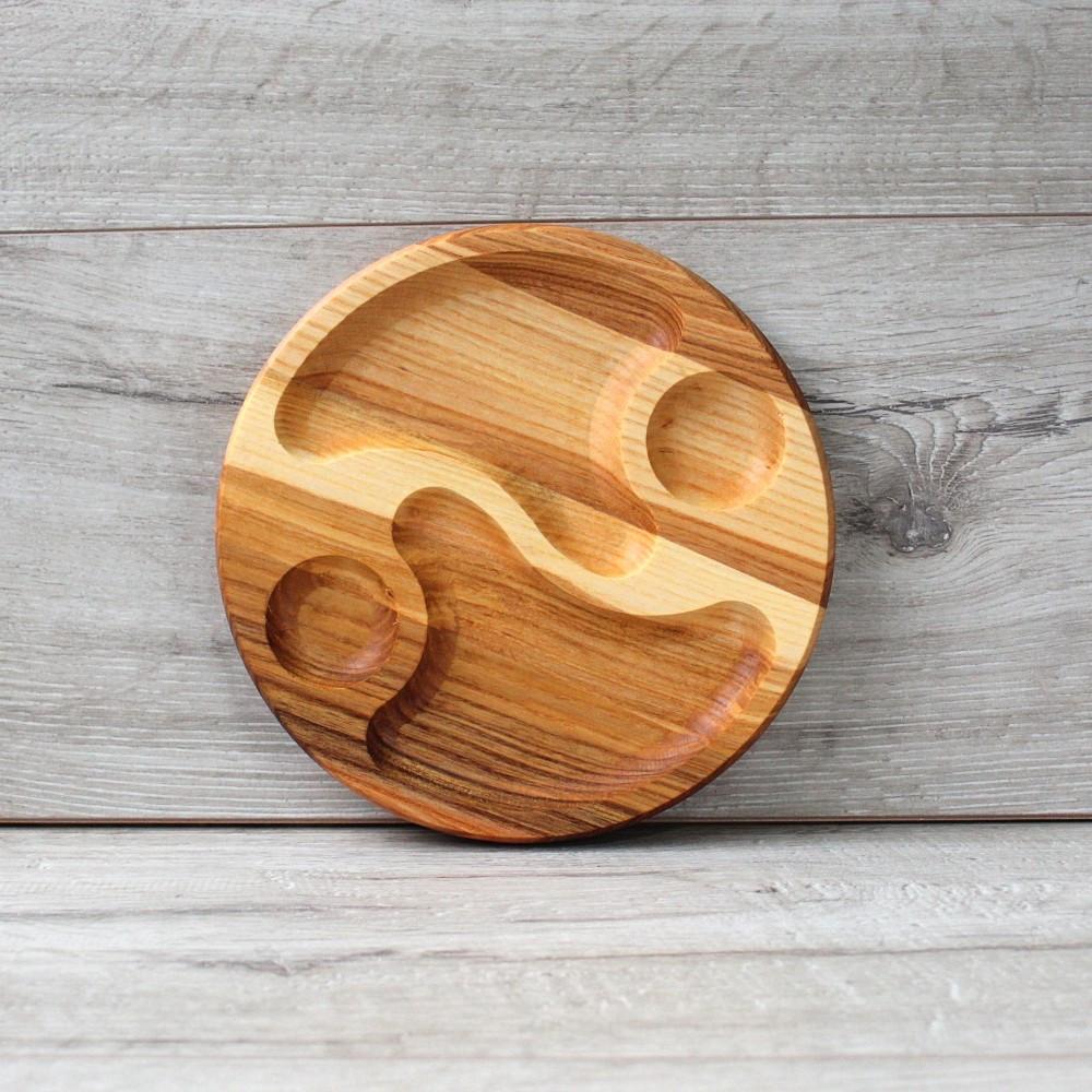 Менажниця з ясена для персональної подачі 19 см, дерев'яна Менажниця