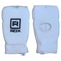 Защитный бандаж на кисти руки RDX - хлопок+неопрен. Белый