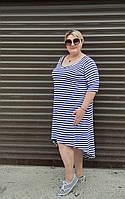"""Сукня жіноча батальне з кишенями в смужку, розмір 54-64 """"ZLATA"""" недорого від прямого постачальника"""