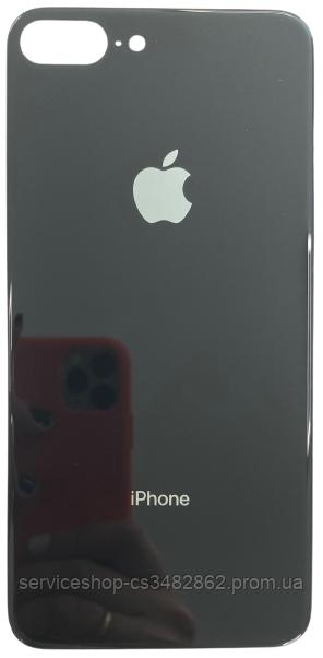 Задня кришка iPhone 8 Plus чорна високої якості з великим отвором під камеру