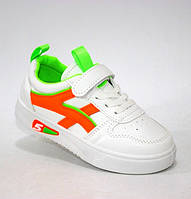 Стильные кроссовки  на липучках для девочки, фото 1