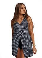 9017-3 Swimdress Слитный купальник - платье Горошек