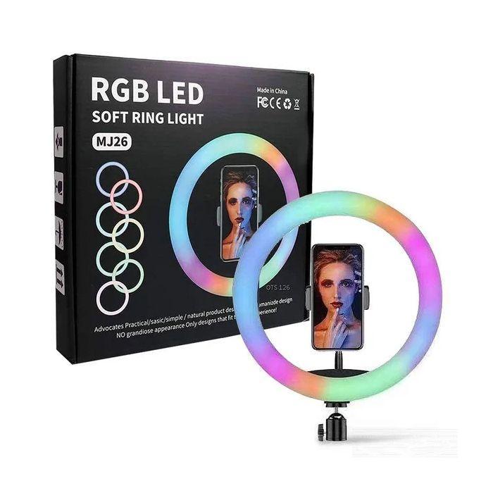 Набор для блогеров 2 в 1 кольцевая лампа 26 см RGB MJ-26 + тренога Yuntfng 3120A Black