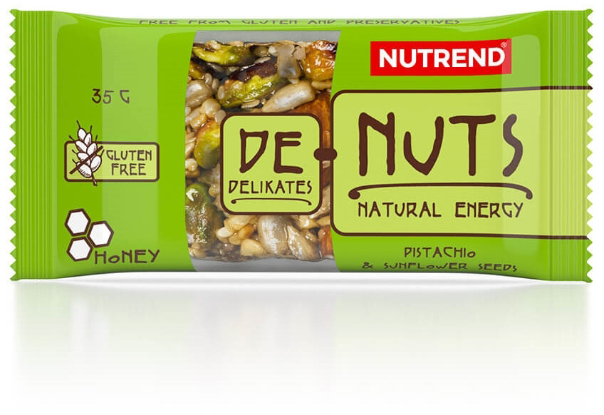 Зерновий Батончик Nutrend De-Nuts 35g фісташки + соняшник