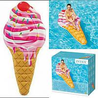 Пляжный надувной матрас плотик Intex 58762 «Мороженое», 224х107 см