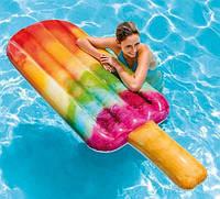 """Пляжный надувной матрас плотик 58766 EU """"Фруктовое мороженое"""", 191х76 см"""