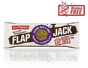 Протеиново-овсяный батончик Nutrend Flap Jack без глютена 100 г черника+клюква в йогур