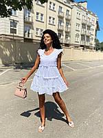 """Сукня жіноча полубатальное ПРОШВА розміри 50-54 (2цв) """"AFINA"""" купити недорого від прямого постачальника"""