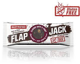 Протеиново-овсяный батончик Nutrend Flap Jack без глютена 100 г шоколад+вишня