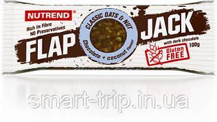Протеиново-овсяный батончик Nutrend Flap Jack без глютена 100 г шоколад+кокос