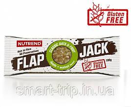 Протеиново-овсяный батончик Nutrend Flap Jack без глютена 100 г яблоко+грецкий орех