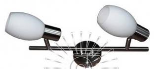 Спот, настенный поворотный светильник в коридор, возле зеркала, на кухню 140-2 матовый хром
