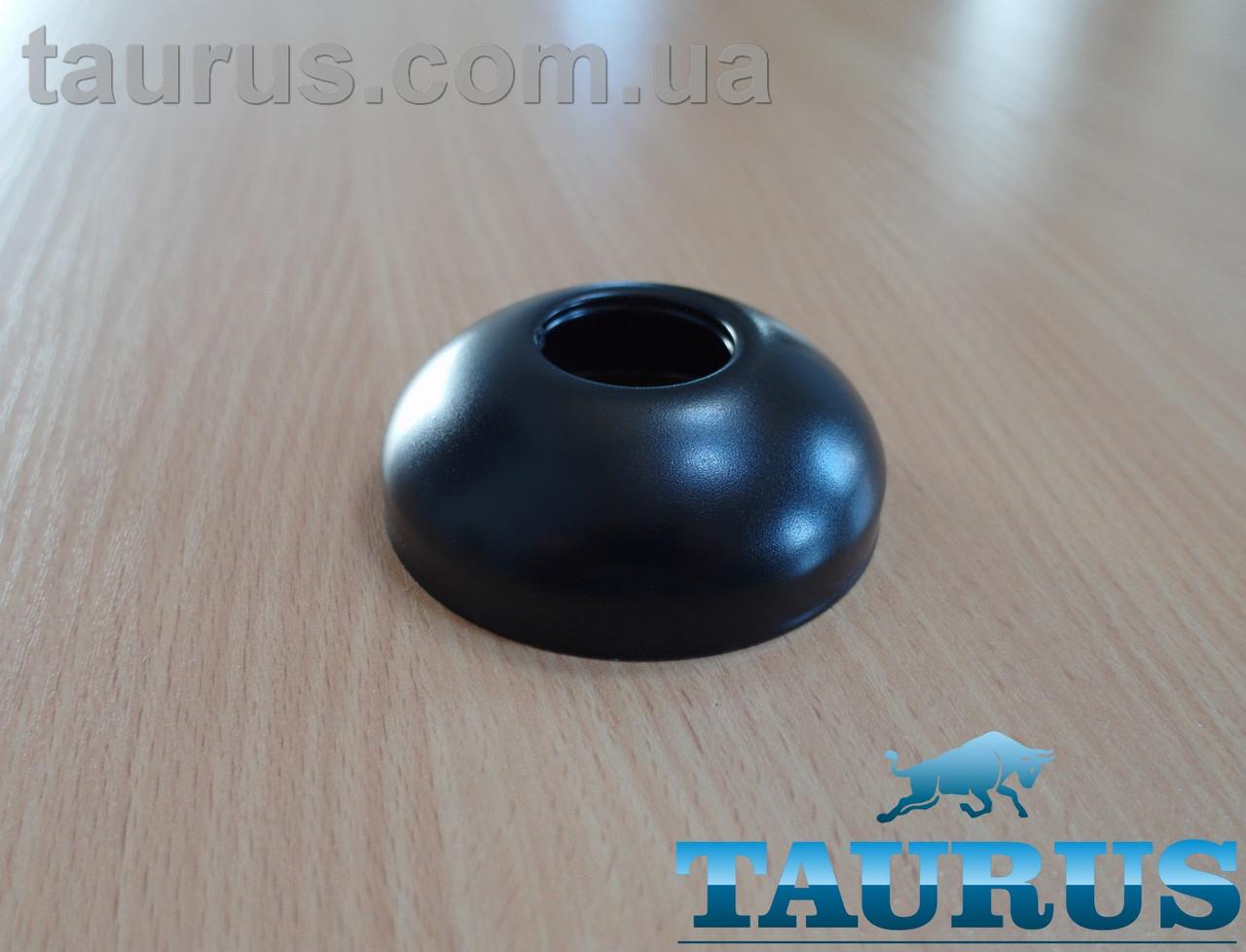 """Чорний сферичний декоративний фланець D70 / висота 25 мм Black, внутрішній розмір 3/4"""" (d25 мм) ThermoPulse"""