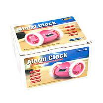 Убегающий будильник на колесиках Alarm Clocky Run Pink, фото 3