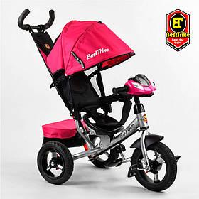 Велосипед триколісний Best Trike 3390/11-818 Червоний | Велосипед-коляска з батьківською ручкою