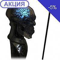 Трость Хрустальный череп с флюоресцентным мозгом GC-Artis Skull PP-002CR-G