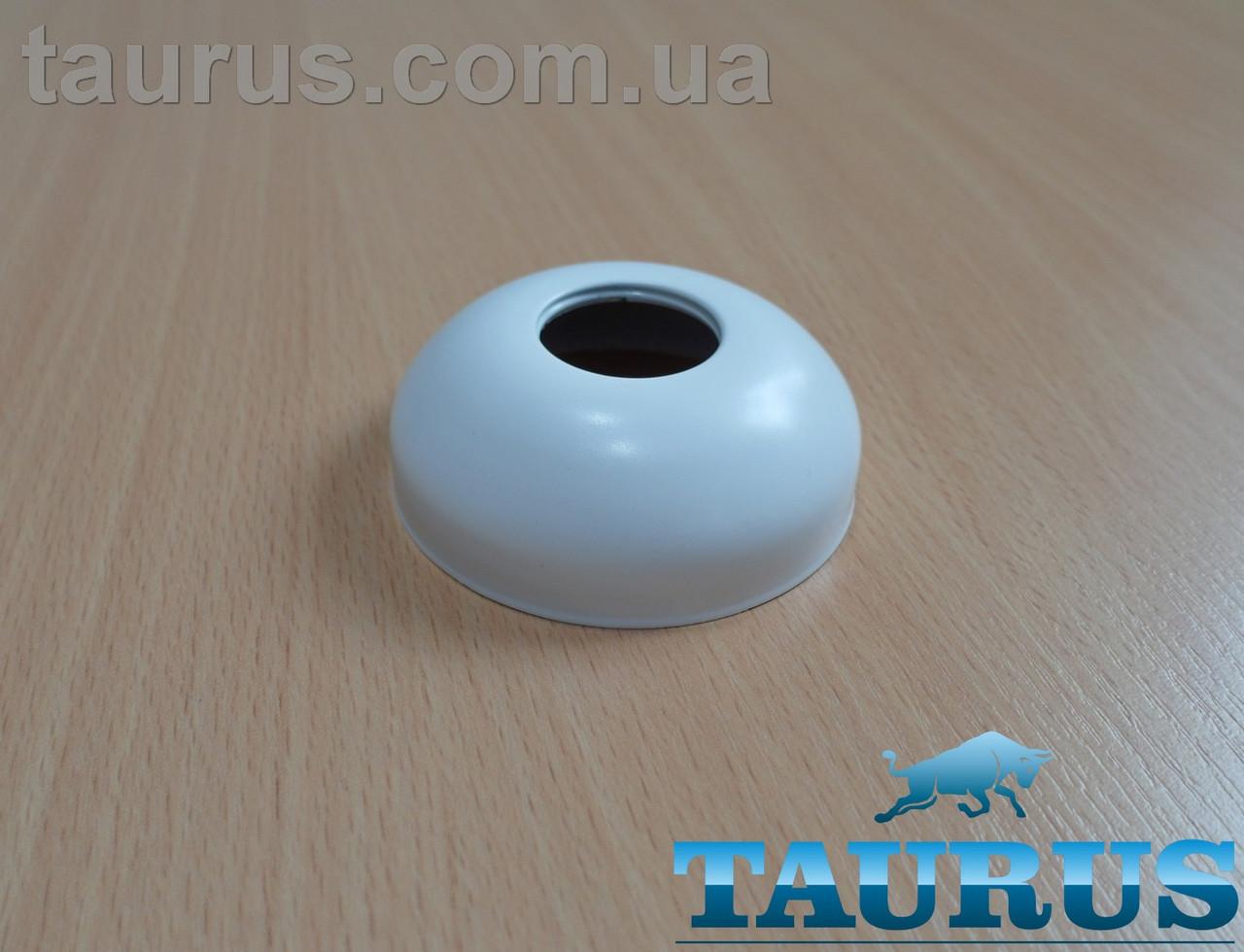 """Білий сферичний декоративний фланець D70 / висота 25 мм White, внутрішній розмір 3/4"""" (d25 мм) ThermoPulse"""