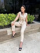 Модный костюм женский из жилета и брюк, фото 3